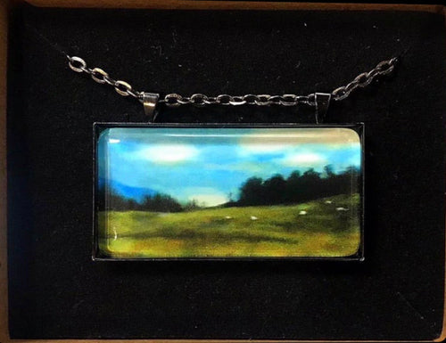 Necklace 'The Sheep are Out' by Ruth Cadden