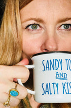 Sandy Toes & Salty Kisses Enamel Mug