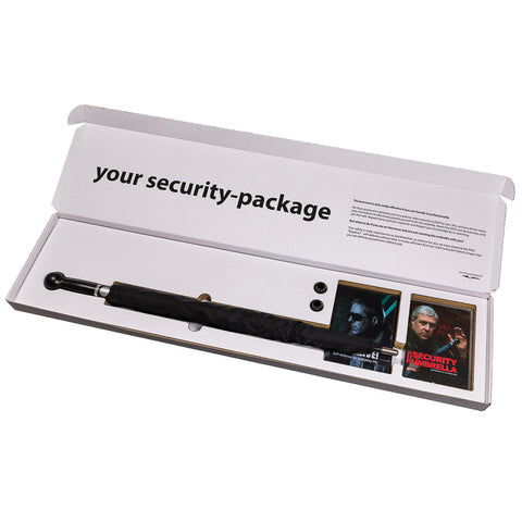"Security-package No. 3: man umbrella ""City-Safe"" with knob handle incl. two turtorials on DVD - security-umbrella"