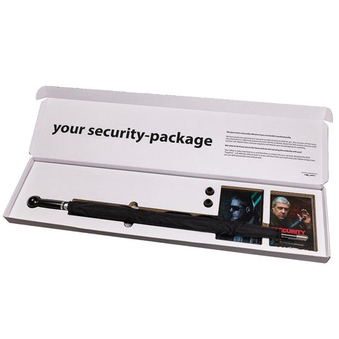 Security-package No. 1 man Security Umbrella Standard knob handle incl. two turtorials (DVD) - security-umbrella