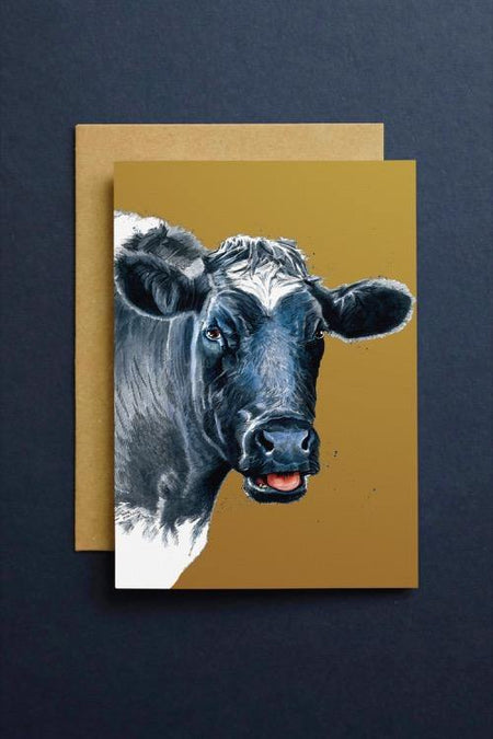 The Cow Art Card - Some Ink Nice - Animal Art, Cards and Gifts