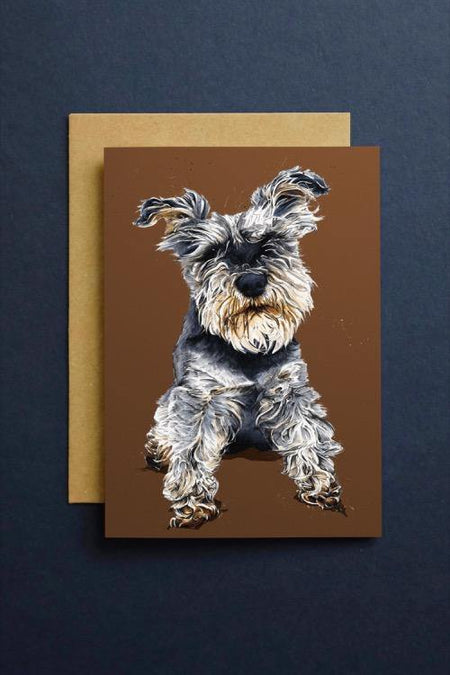 Ollie The Schnauzer Art Card