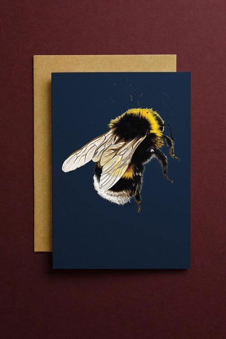 The Bee Art Card - Some Ink Nice - Animal Art, Cards and Gifts