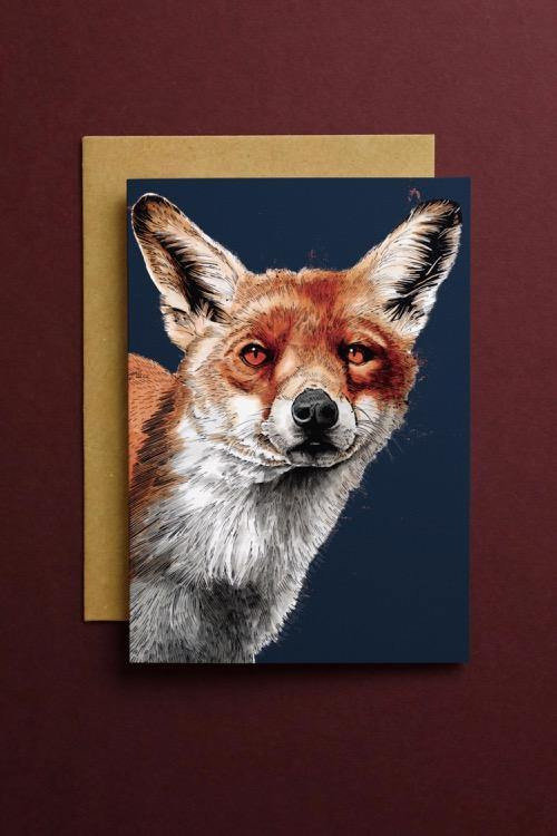 The Fox Art Card - Some Ink Nice - Animal Art, Cards and Gifts