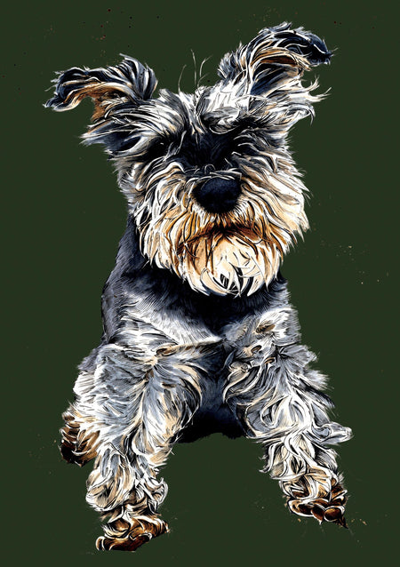 Ollie The Schnauzer A5 Notebook