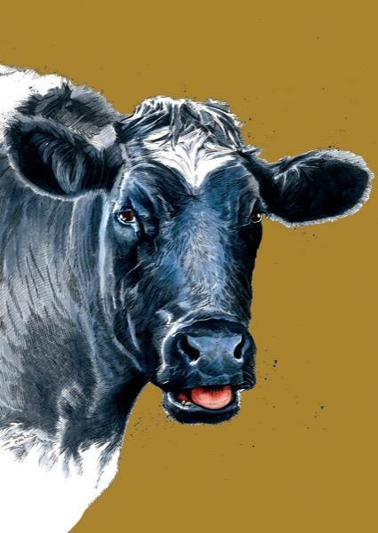 The Cow A4 Art Print