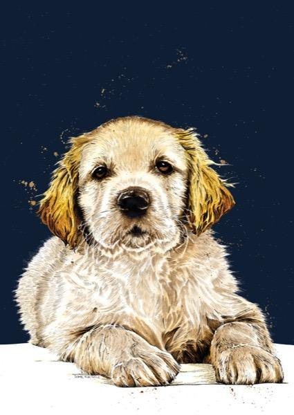 The Guide Dog Puppy A4 Art Print