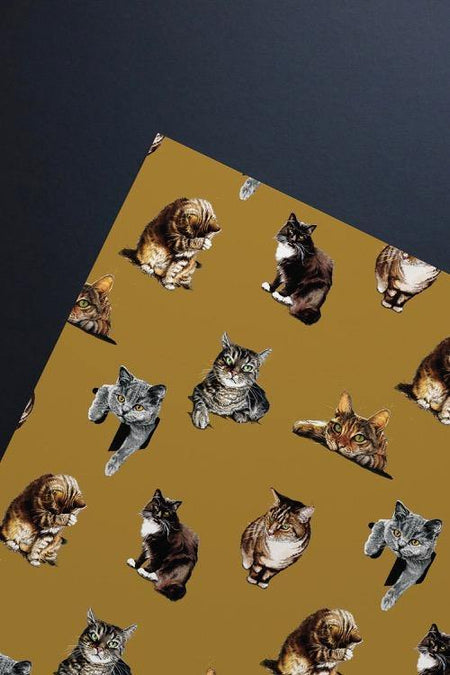 The Cats Gift Wrap Sheet - Some Ink Nice - Animal Art, Cards and Gifts