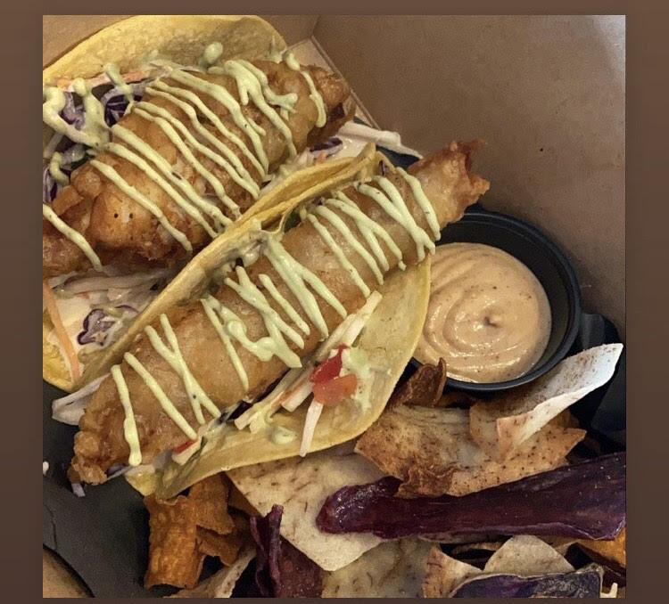 Doing Fine Kitchen - Walleye Taco meal deal