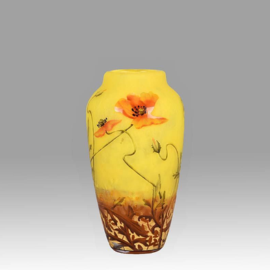 Poppy Vase by Daum Freres