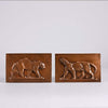 Barye Plaques - Animalier Bronze Plaques by Barye - Hickmet Fine Arts
