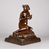 Clerget Bronze - Spinning Wool Art Nouveau Bronze - Hickmet Fine Arts