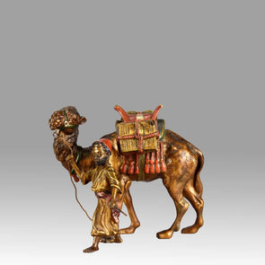 """Arab Tradesman and Camel"" by Franz Bergman"