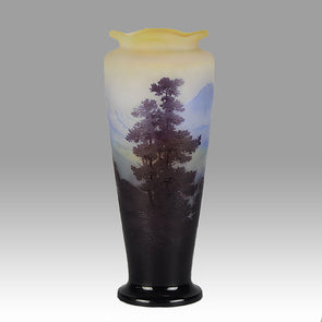 Mountain Landscape Vase by Gallé