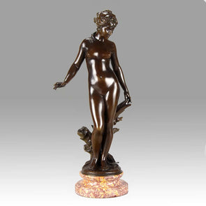 August Moreau Art Nouveau Bronze La Source