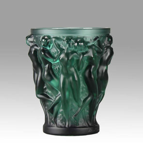"""Bacchantes"" glass vase by Lalique"