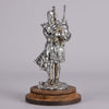 Bagpipes Chrome on Brass Car Mascot