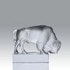 """Bison Paperweight"" by Lalique Glass"