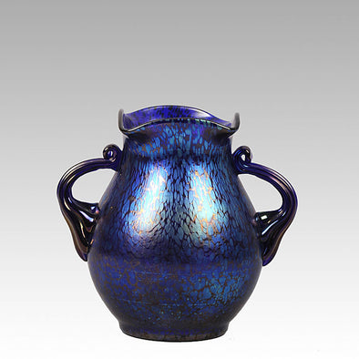 Loetz Glass - Blue Papillion Vase by Johann Loetz - Hickmet Fine Arts