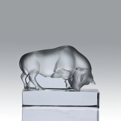 """Bull Paperweight"" by Lalique Glass"