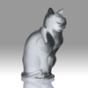 """Chat Assis"" by Marc Lalique"