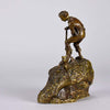"""Treasure Seeker"" by Carl Kauba Bronze -Hickmet Fine Arts"