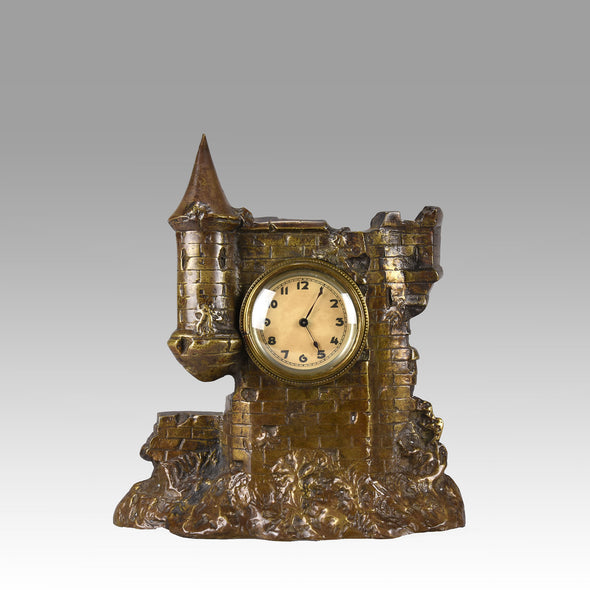 Castle Mantle Clock - Hickmet Fine Arts