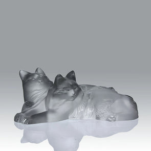 """Happy and Heggie"" Cats by Lalique"