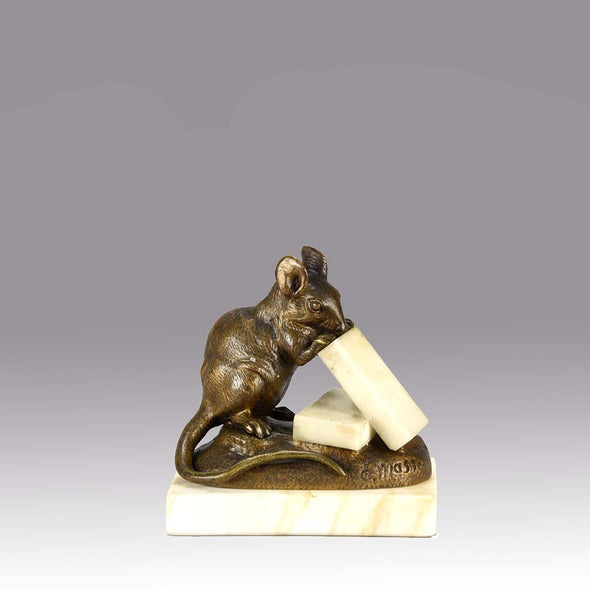 Animalier Clovos Masson Bronze Mouse & Cheese