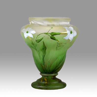 """Nicotiana Vase"" by Daum Frères"