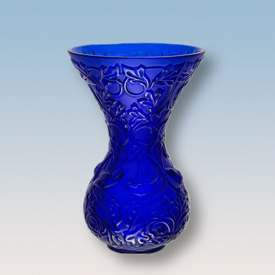 """Blue Arabesque Vase"" by Marie-Claude Lalique"