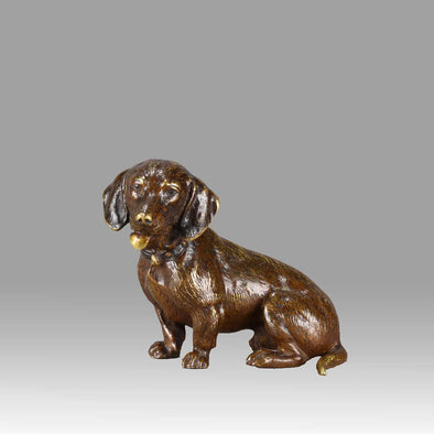 "Vienna Bronze ""Seated Dachshund"""