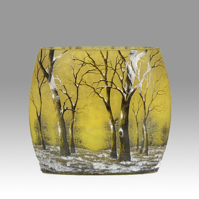 Winter Vase by Daum Freres