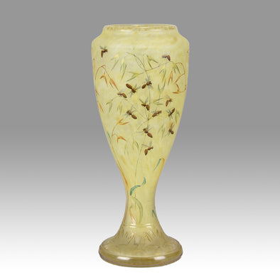 """Bees and Flowers Vase"" by Daum Frères"