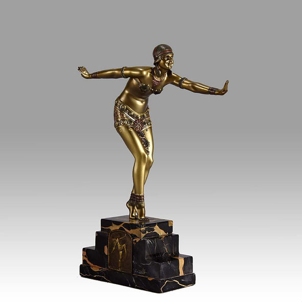 Demetre Chiparus - Art Deco Bronze Dancer - Phoenician Dancer - Hickmet Fine Arts