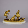 Art Deco Bronze group of Chiparus Children