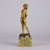 Joseph Descomps Art Deco Bronze - Nude by Descomps - Hickmet Fine Arts