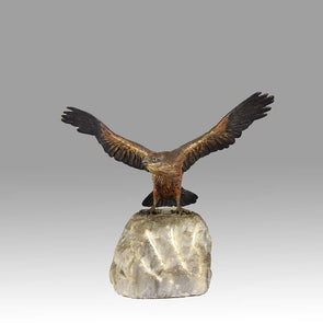 'Eagle on a Rock' Bronze by Bergman