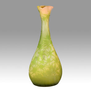 Emile Gallé - Art Nouveau Glass - Large Floral Vase