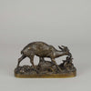Animalier Bronze by Fratin Gazelle et Foan