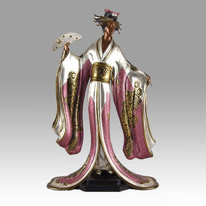 "Erté ""Madame Butterfly"" Limited Edition Art Deco Bronze"