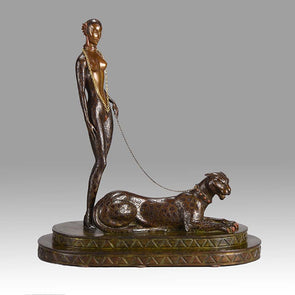 Erte Panther Limited Edition Art Deco Bronze