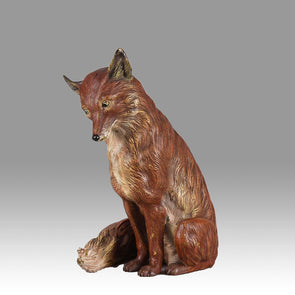 """Seated Fox"" by Franz Bergman"