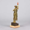 Franz Bergman Erotic Torch Bearer Bronze
