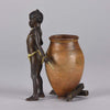 Franz Bergman Arab Child and Ewer - Hickmet Fine Arts
