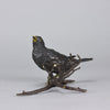 Franz Bergman Bronze - Bird on a Branch - Hickmet Fine Arts