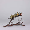 Franz Bergman Birds on a Branch - Austrian Bronze - Hickmet Fine Arts