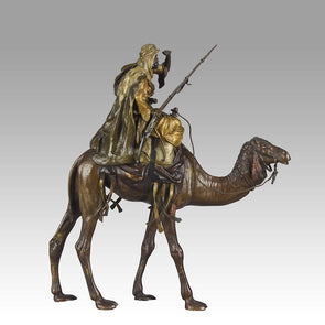 Bronze Camel with Warrior by Bergman