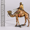 Franz Bergman Bronze - Camel with Arab Warrior  - Hickmet Fine Arts