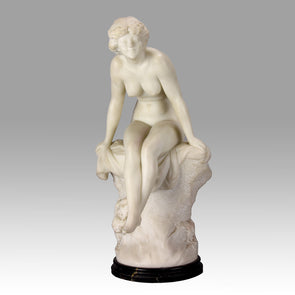 Girl on a Rock - Donatella Gabbrielli Marble - Hickmet Fine Arts